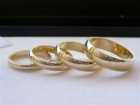 3mm, 4mm, 5mm, 6mm 14K SOLID GOLD MEN'S WOMEN'S WEDDING