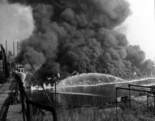 Cuyahoga River fire