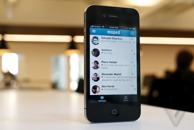 moped message, aplicación de mensajería