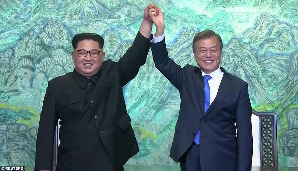 The leader of nuclear-armed North Korea Kim Jong Un and the South's President Moon Jae-in said they were committed to the denuclearisation of the Korean peninsula after a historic summit Friday