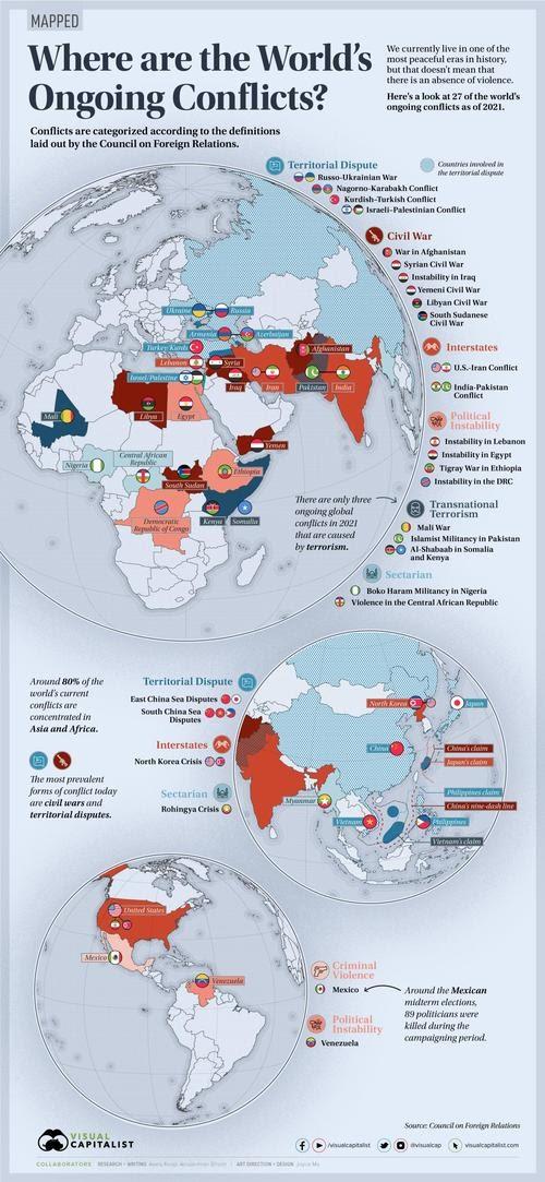 Mapeado: ¿Dónde están los conflictos en curso en el mundo hoy en día?