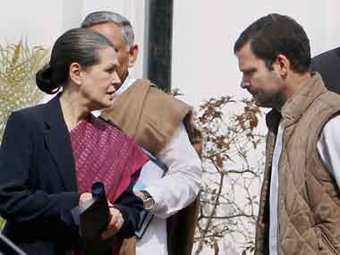 File image of Sonia and Rahul Gandhi. PTI