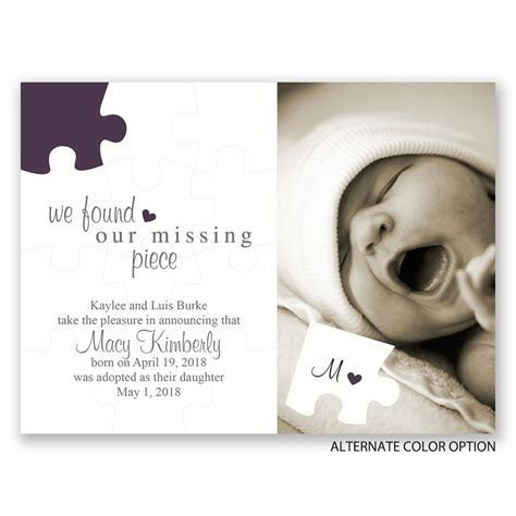 The Missing Piece Petite Adoption Announcement