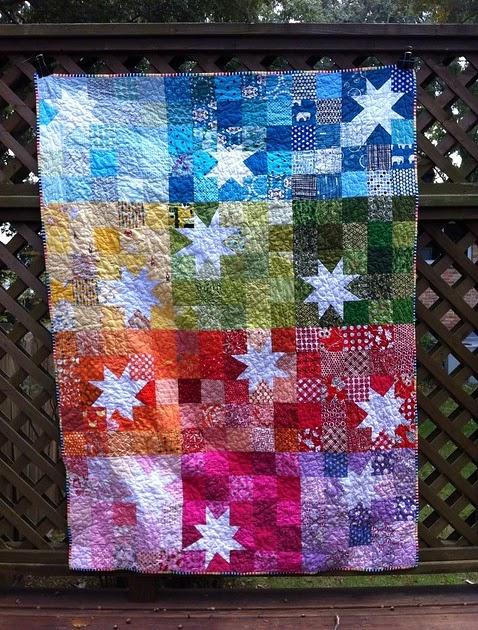Katie's Korner: Blogger's Quilt Festival: Rainbow Bright