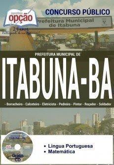 apostila concurso Prefeitura de Itabuna todos os cargosDE NÍVEL FUNDAMENTAL I