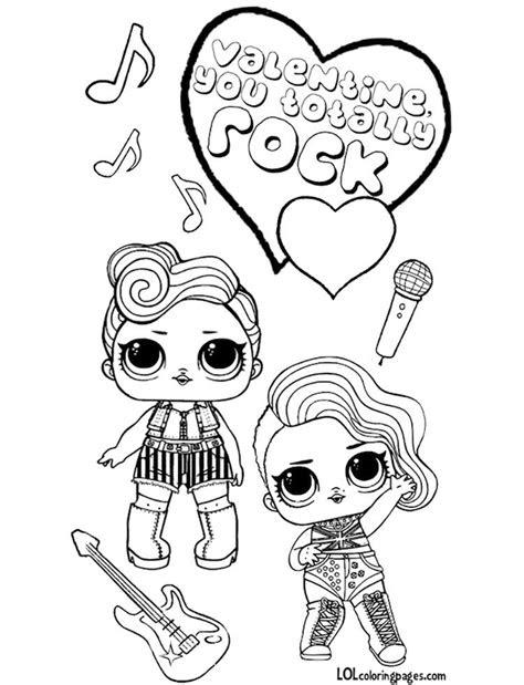 lol surprise doll valentines coloring page boyama kitabi