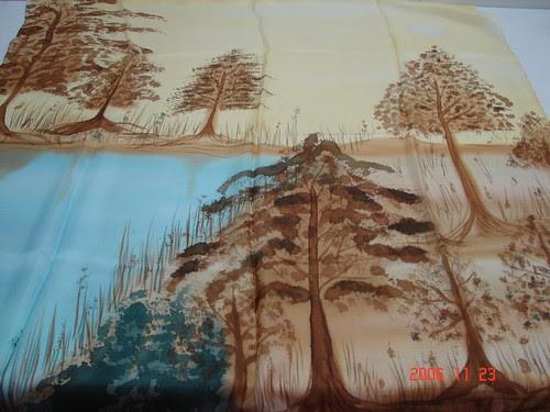"""""""Outono"""" - Pintura em Seda - """"Silk Painting"""""""
