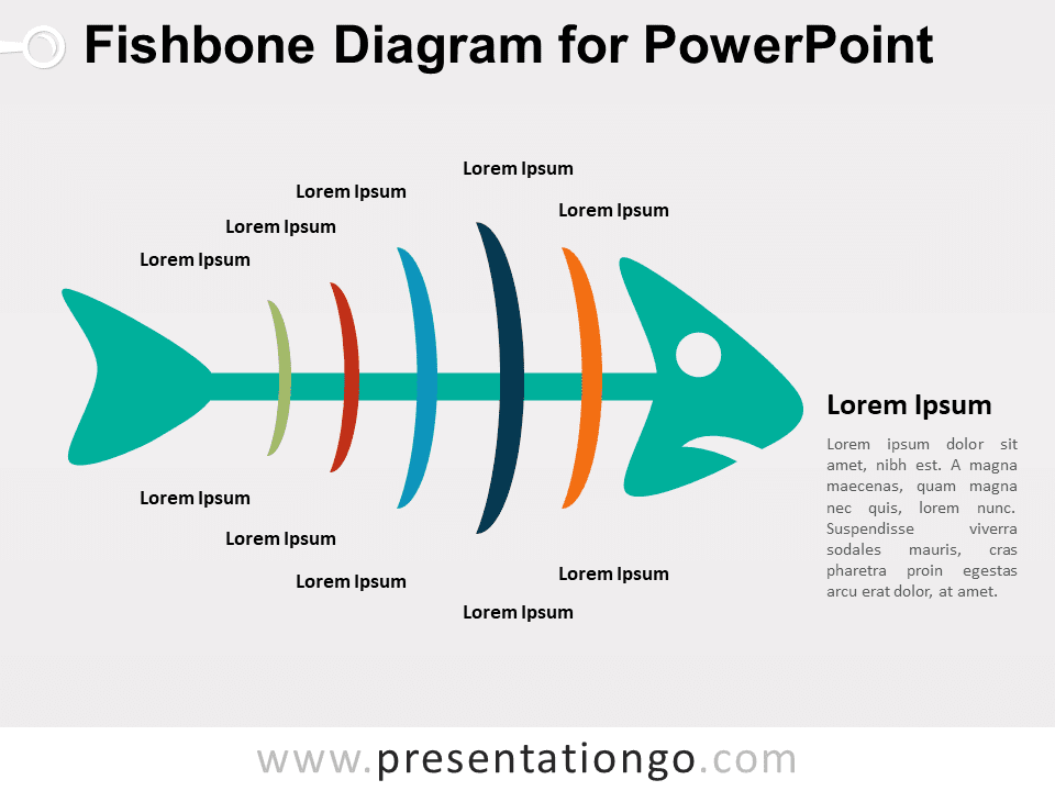 Fishbone Diagram PowerPoint Colored