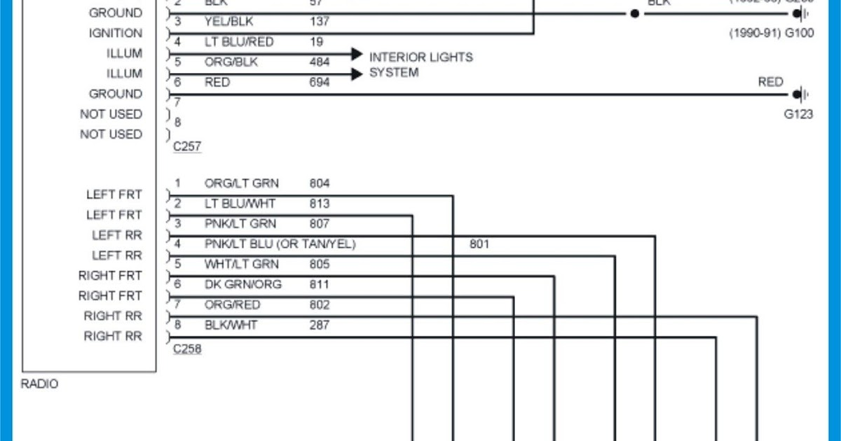 1992 Ford F150 Stereo Wiring Diagram