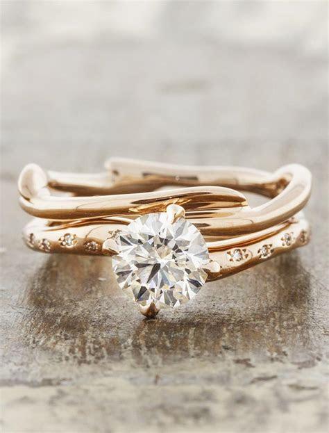 Kennedia: Branch Wedding Ring   Earthy, Organic   Ken