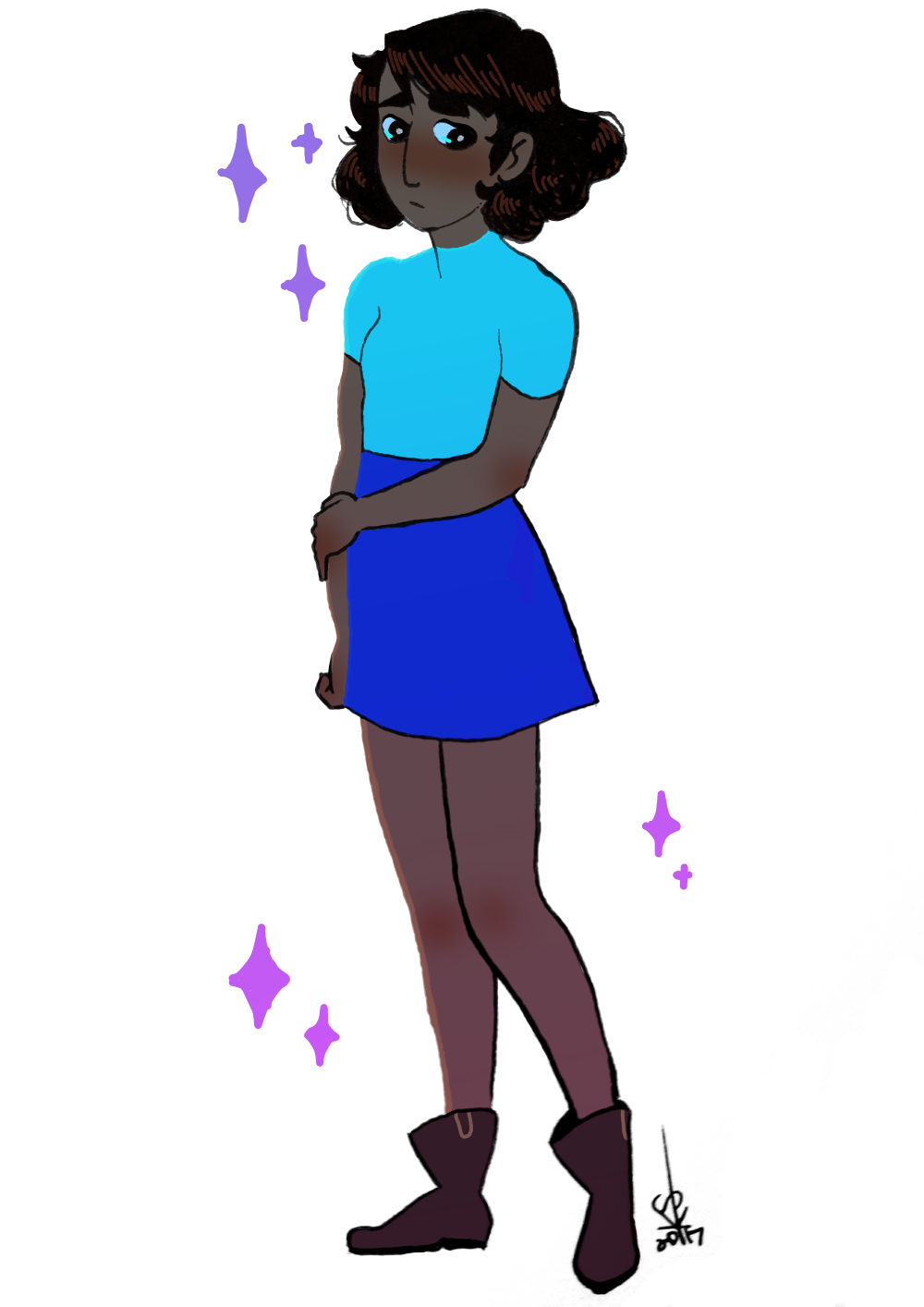 Been feeling real down lately, but today I felt a lil better, so I decided to draw something simple plus I'm still not over Connie's look from Kevin Party!!!! I drew this in my sketchbook, then...