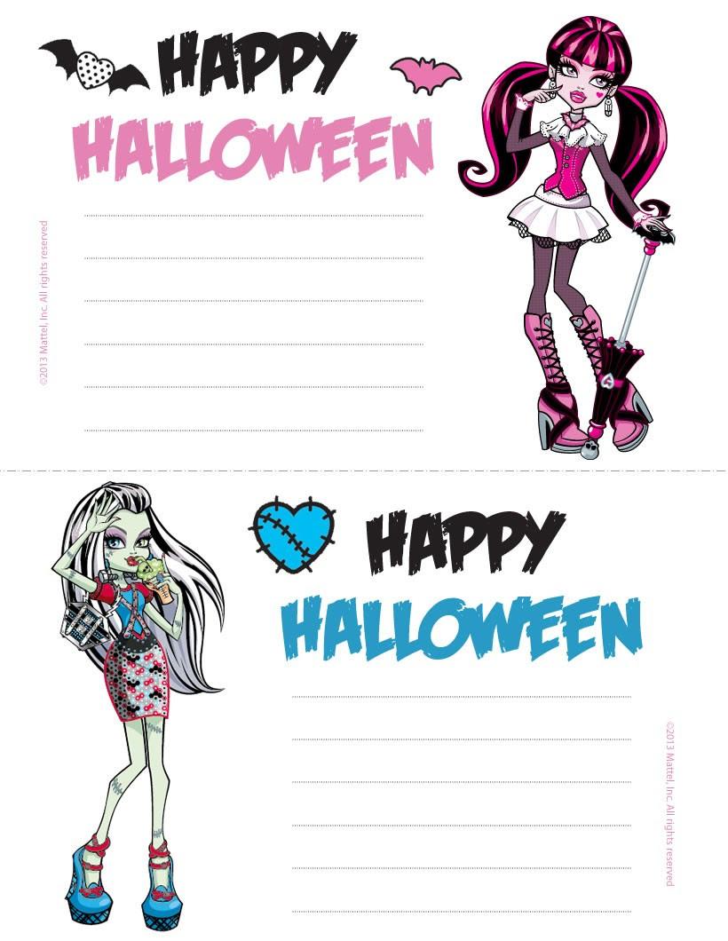Monster High invitation Drucken