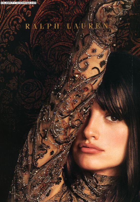 Love this lace, the design, the colour. Penelope Cruz for Ralph Lauren. via Ruth Bright Carrol