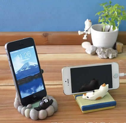 Cute Cat SPA Desk Business Card Holder Cell Phone Holder ...