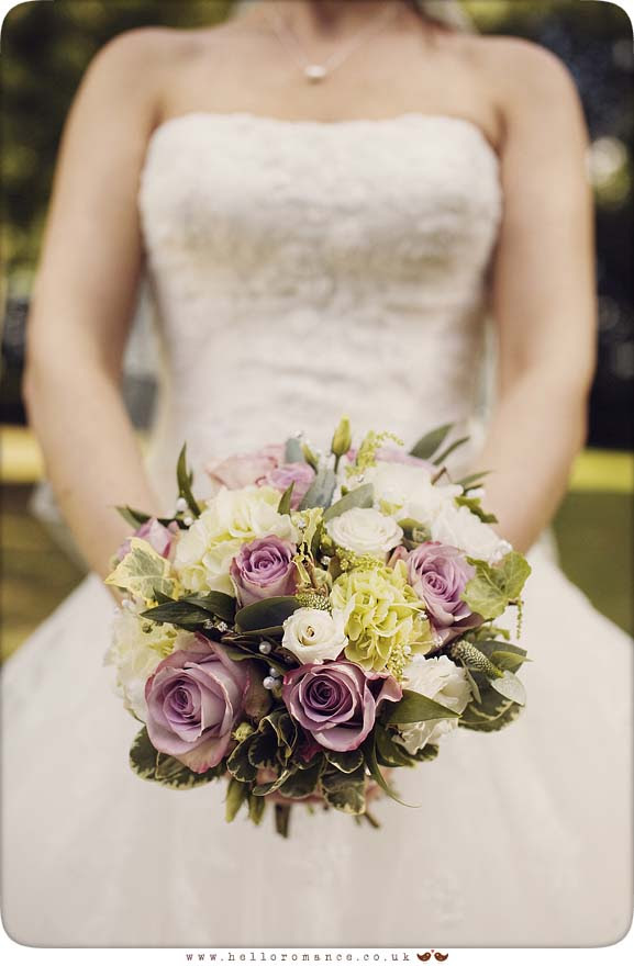Bride with vintage bouquet - Hello Romance Vintage Wedding Photography Suffolk