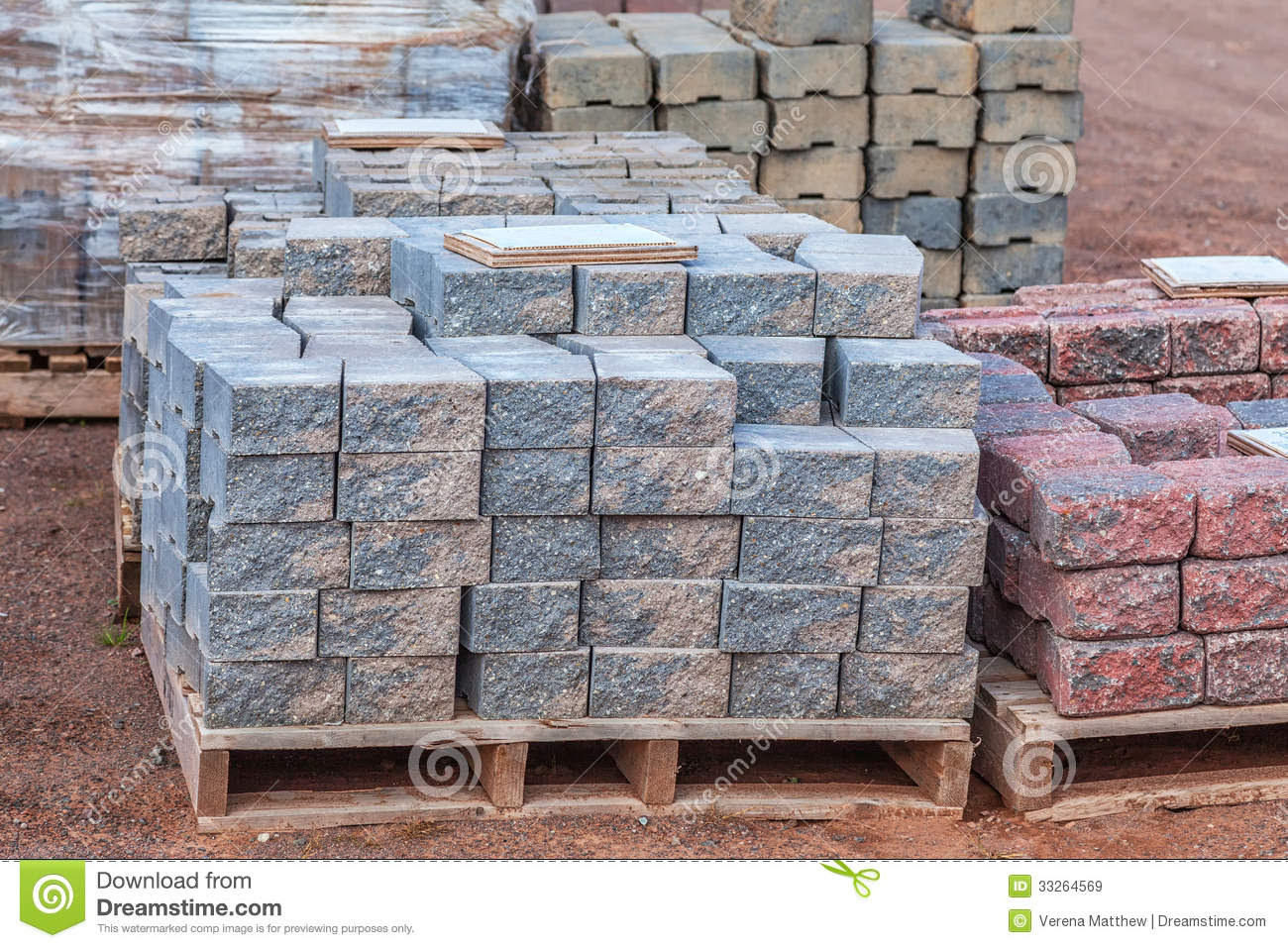 Concrete Pavers Royalty Free Stock Images - Image: 33264569