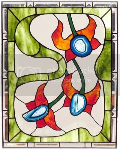 FleetingStillness stained glass