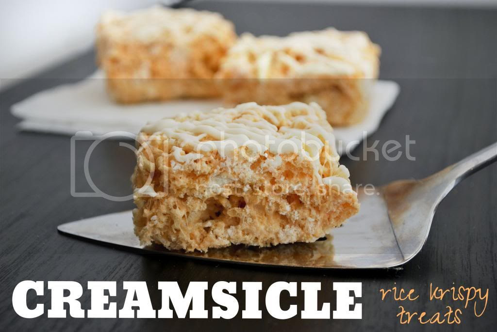 Mallow and Co: Creamsicle Rice Krispy Treats