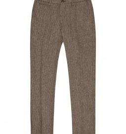 Reiss Gatsby Herringbone Trousers Grey
