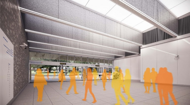 Woolwich Station - architects impression image of Crossrail station_147930