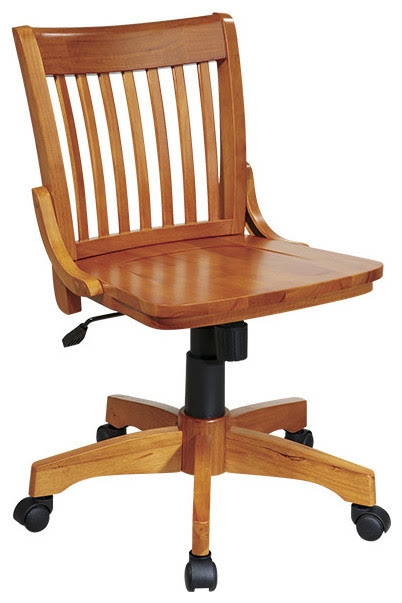 Wood Bankers Office Chair - traditional - task chairs - atlanta ...