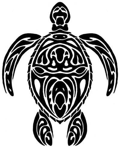 7 Beautiful Tribal Sea Turtle Tattoo
