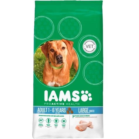 iams dog adult large breed chicken kg dog food