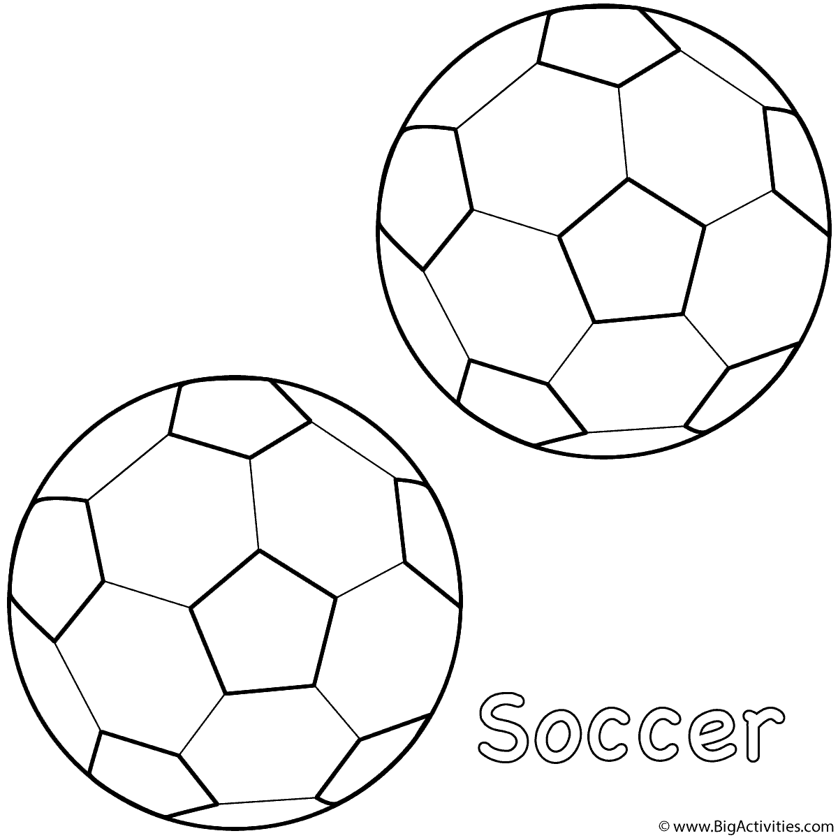 Soccer  Free Colouring Pages