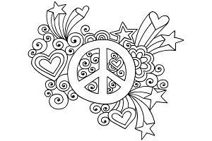 Coloriage Peace And Love