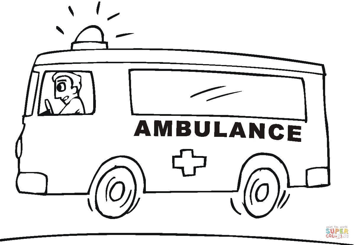 er sur la Ambulance coloriages pour visualiser la version imprimable ou colorier en ligne patible avec les tablettes iPad et Android