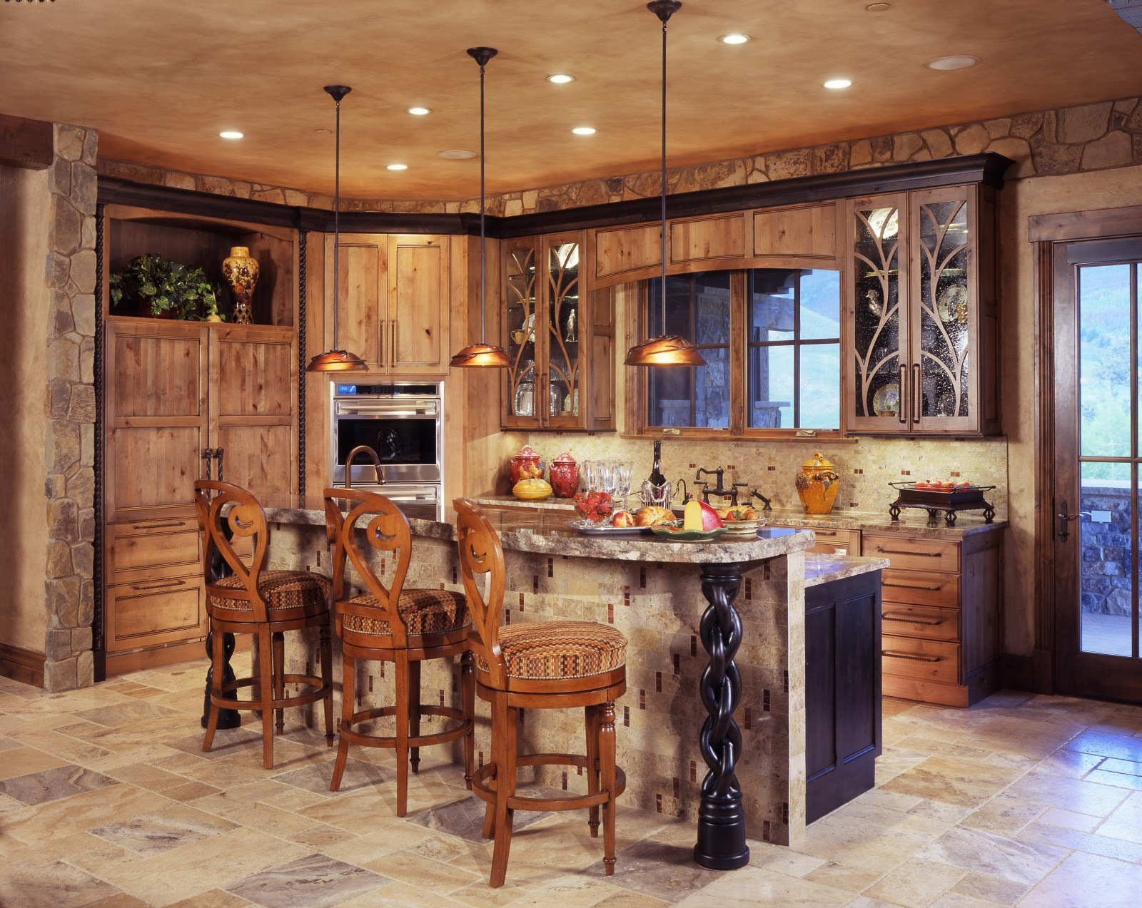 Enchanting Rustic Kitchen Cabinets Creating Glorious ...