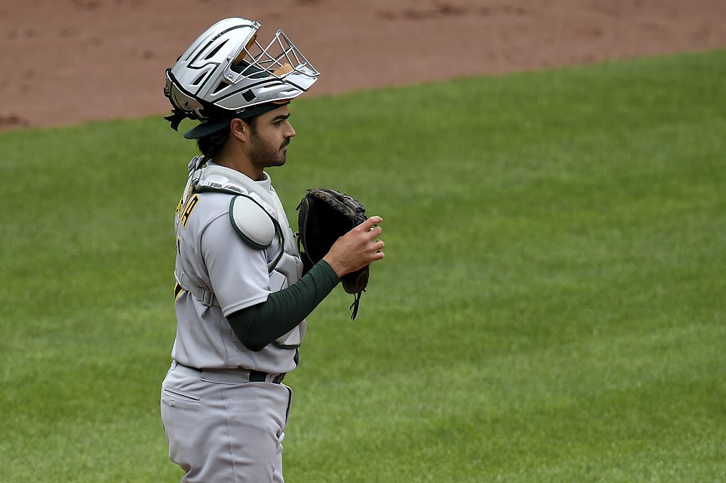 A's place catcher Aramis Garcia on IL with stomach virus, call up Austin Allen