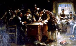 Pilgrims Signing the Mayflower Compact by Edward Percy Moran