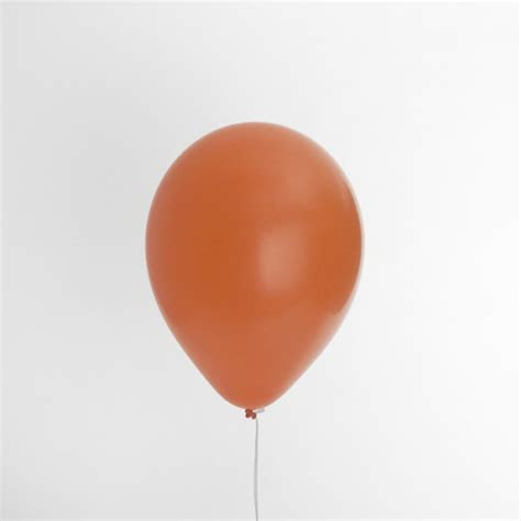 Solid Orange Inflated Balloon   Partyspot