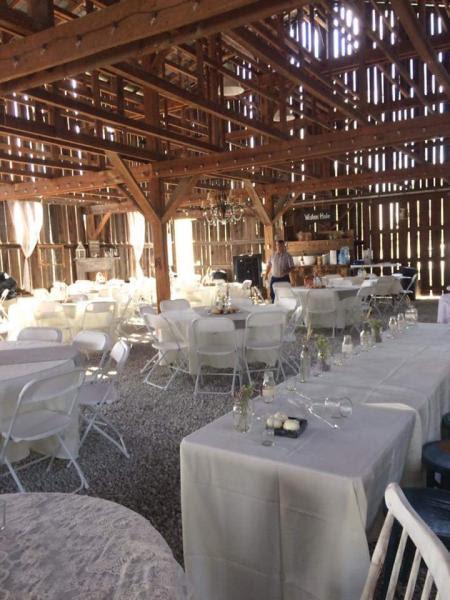 All White Wedding Reception Barn Gallery