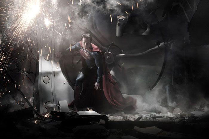 Henry Cavill as the new Superman in MAN OF STEEL.
