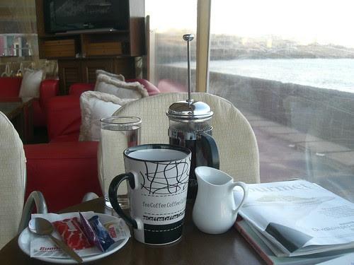 a relaxing coffee at koum kapi