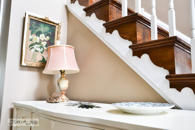 Karen - The Graphics Fairy's house - elaborate stairway woodwork