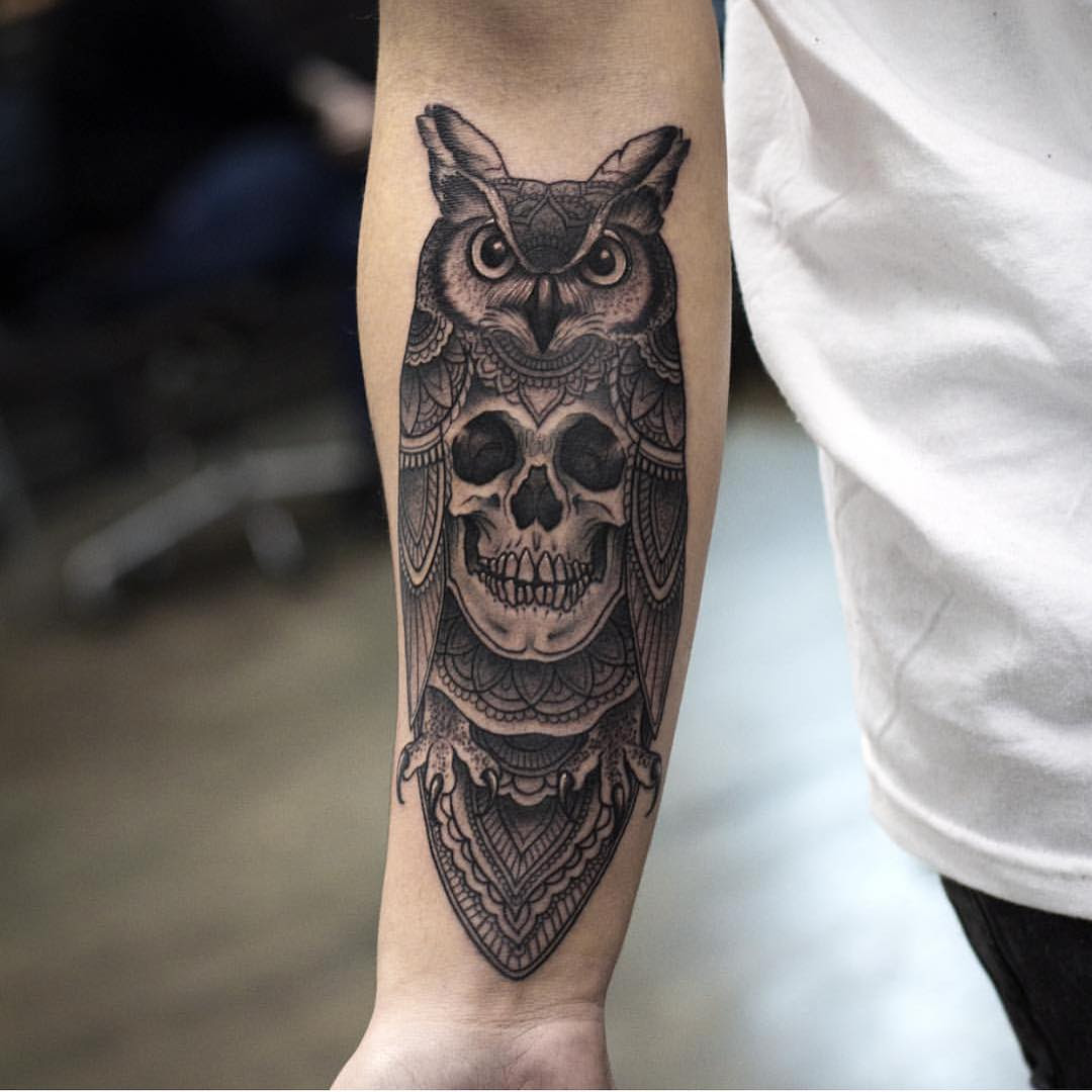 Owl Skull Tattoo Best Tattoo Ideas Gallery