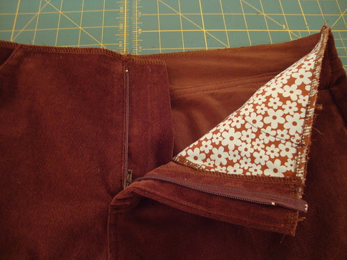 J Stern Designs Jeans: brown corduroy edition, in progress