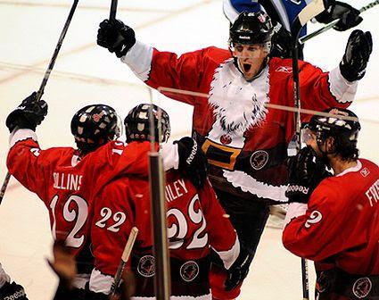 Las Vegas Wranglers 2010 Christmas jerseys
