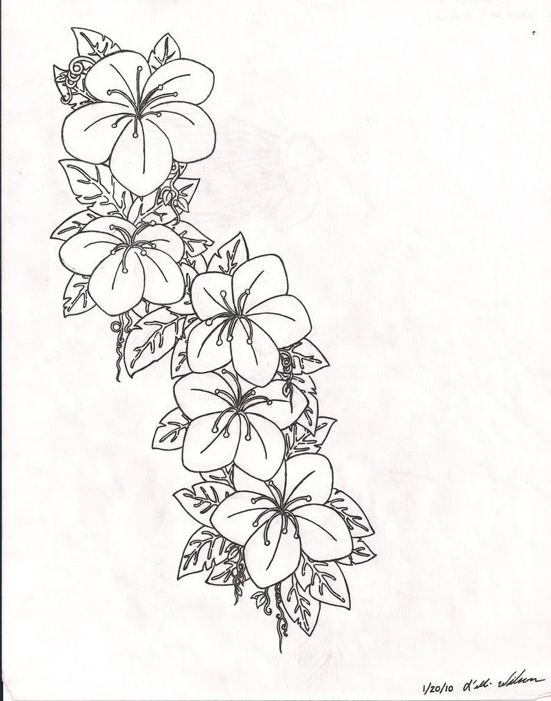 Tattoo Flower Drawing At Getdrawingscom Free For Personal Use