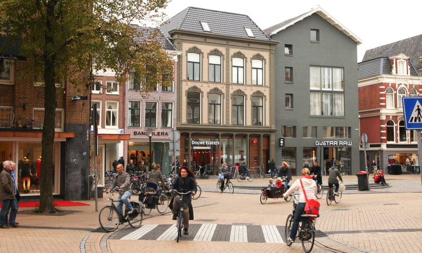 In Groningen, an impressive 61% of all trips are made by bicycle.