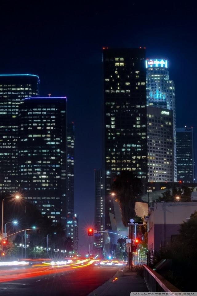 Los Angeles Street 4K HD Desktop Wallpaper for 4K Ultra HD TV • Tablet • Smartphone • Mobile Devices