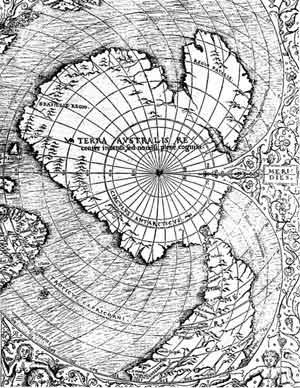 Част от картата на Оронс Финeй от 1531 г.