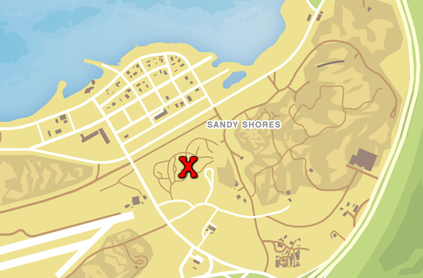 Gta 5 Map With Street Names Sandy Shores