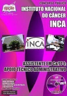 Apostila Concurso do Inca 2016 ASSISTENTE EM TÉCNICO ADMINISTRATIVO