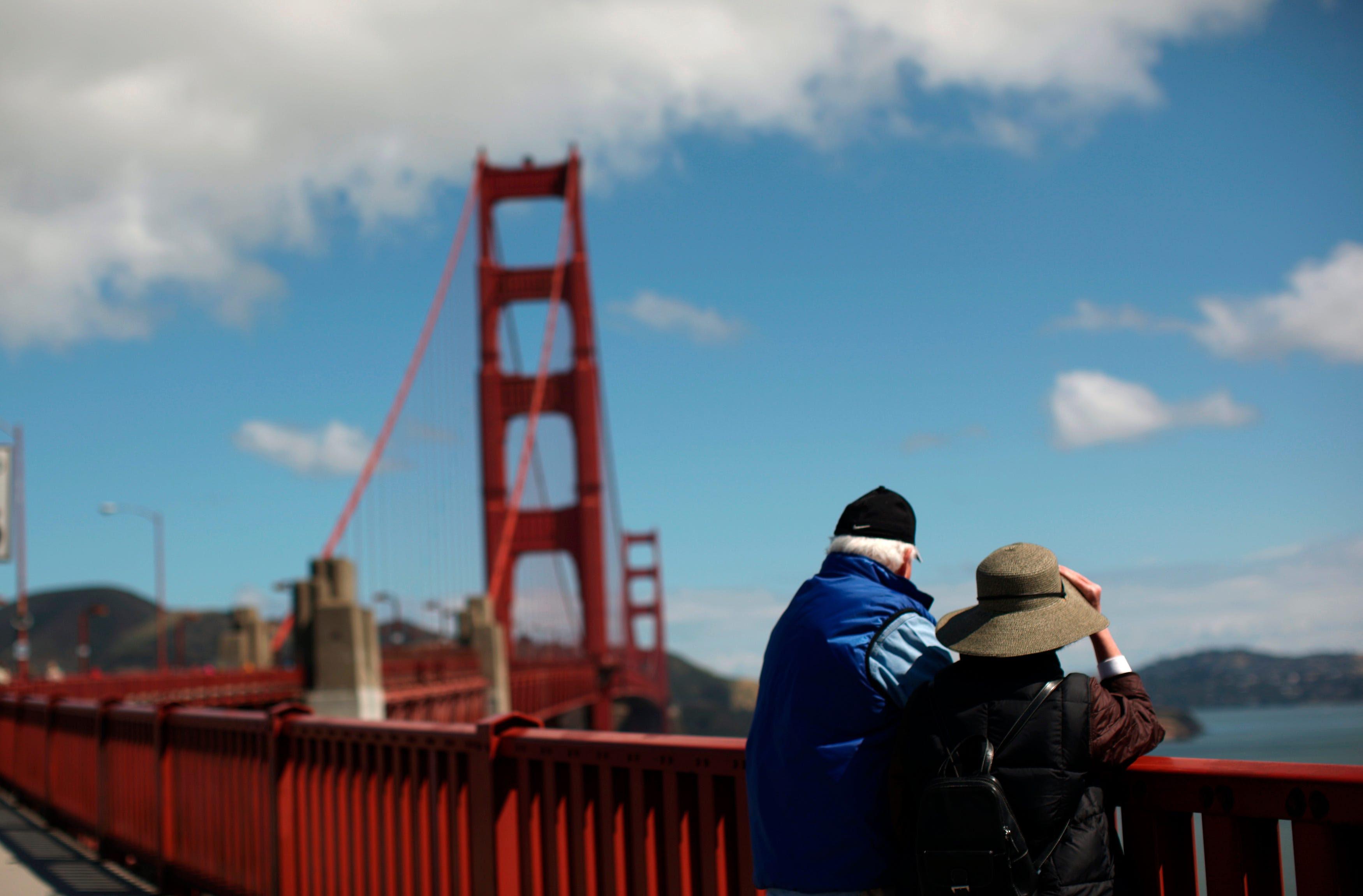 Golden Gate Bridge San Francisco California USA America Relationship Couple