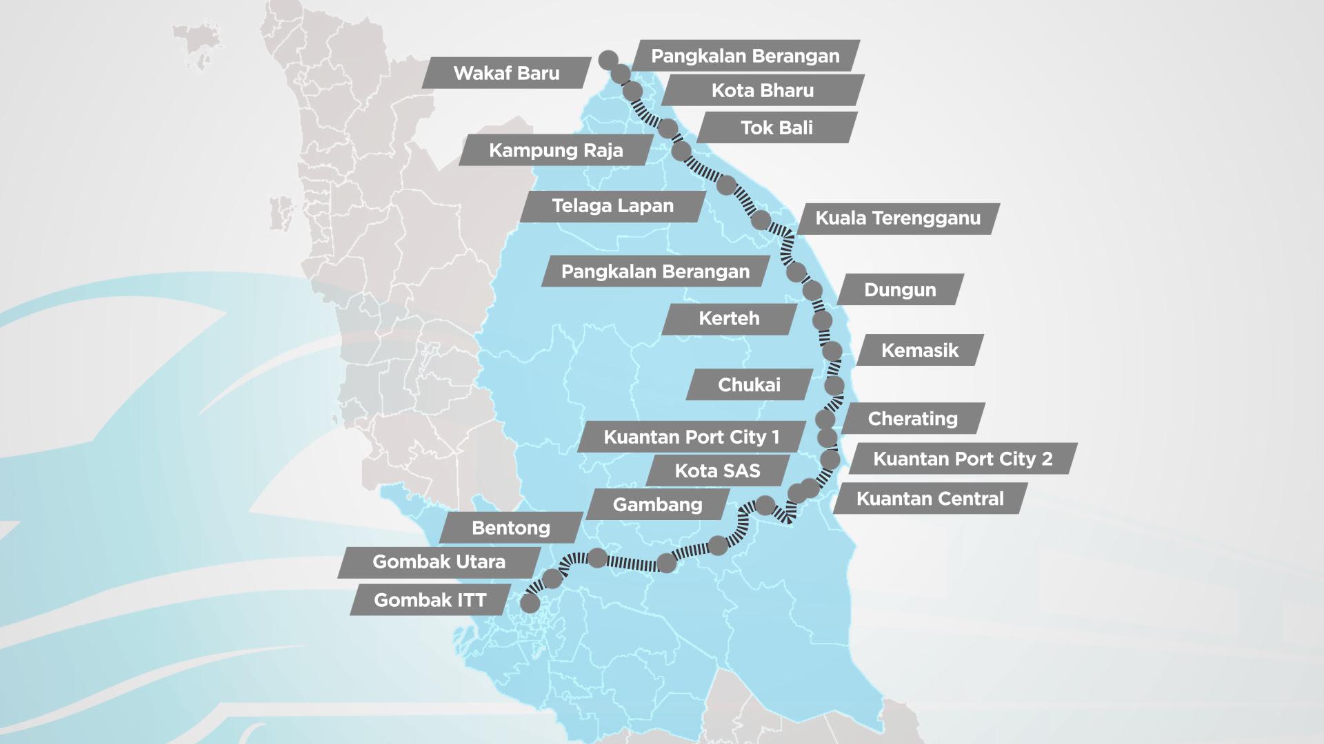 Peta Pantai Timur Malaysia - Kumpulan Peta dan Denah