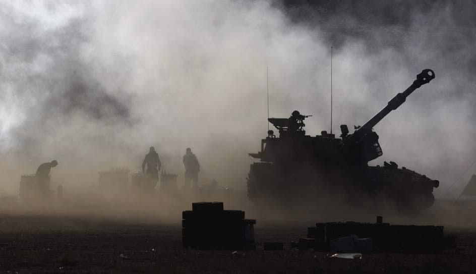 Los tanques israelíes disparan contra Gaza